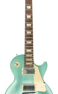 GIBSON Les Paul Mint Green 6 String Solid Electric Guitar With Hard Shell Case image